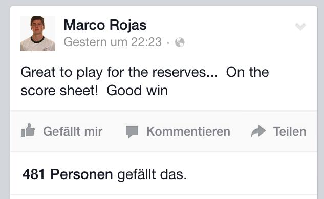 Rojas über seinen Einsatz in der U23.